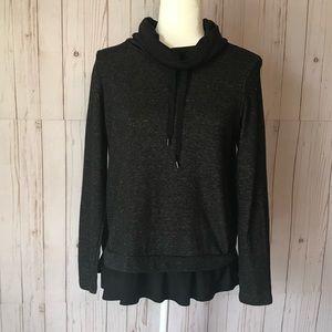 JOE FRESH black, cowl neck sweater NWOT size S